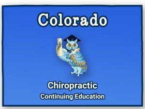 Colorado Chiropractic Continuing Education